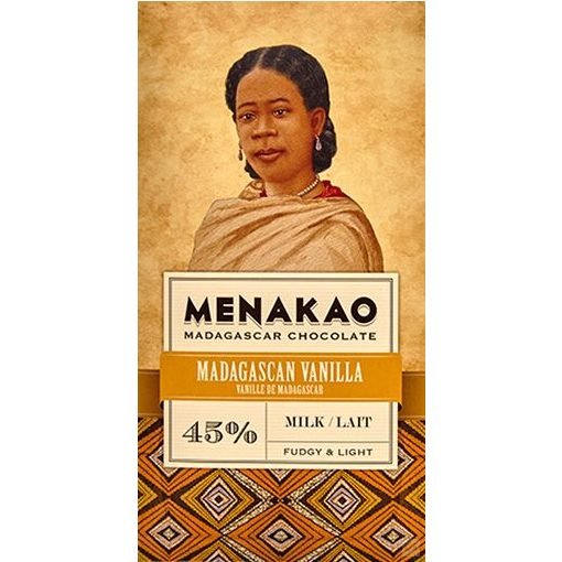 Menakao madagaszkári 45% tejcsokoládé madagaszkári vanília 75g