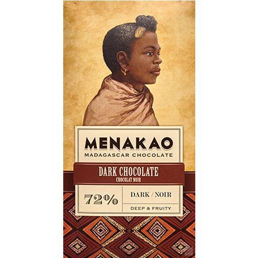 Menakao madagaszkári 72% étcsokoládé 75g