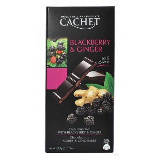 Cachet 57% étcsokoládé szeder-gyömbér 100g