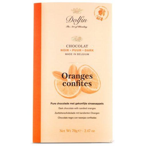 Dolfin étcsokoládé narancsos 70g