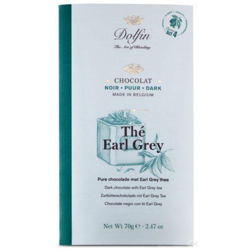 Dolfin étcsokoládé Earl Grey teás 70g