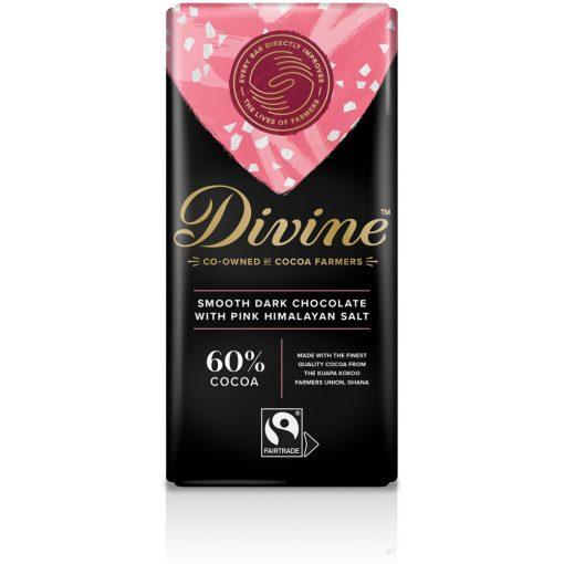 Divine 60% étcsokoládé rózsaszín Himalája sóval 90g