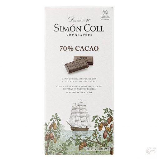 Simon Coll 70% étcsokoládé 85g