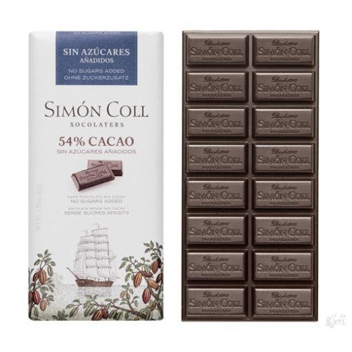 Simon Coll cukormentes/diabetikus étcsokoládé 85g