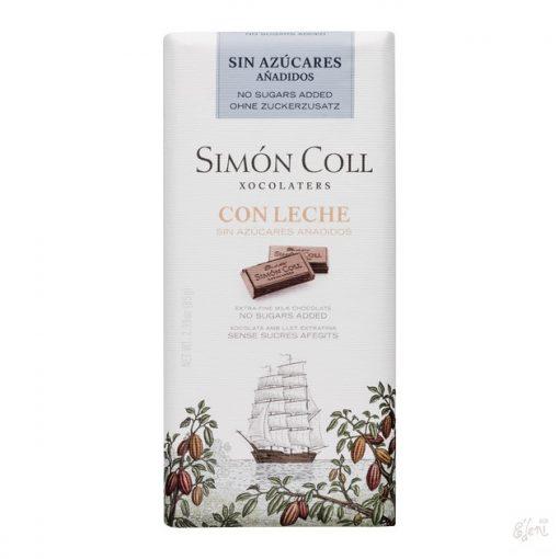 Simon Coll cukormentes/diabetikus tejcsokoládé 85g